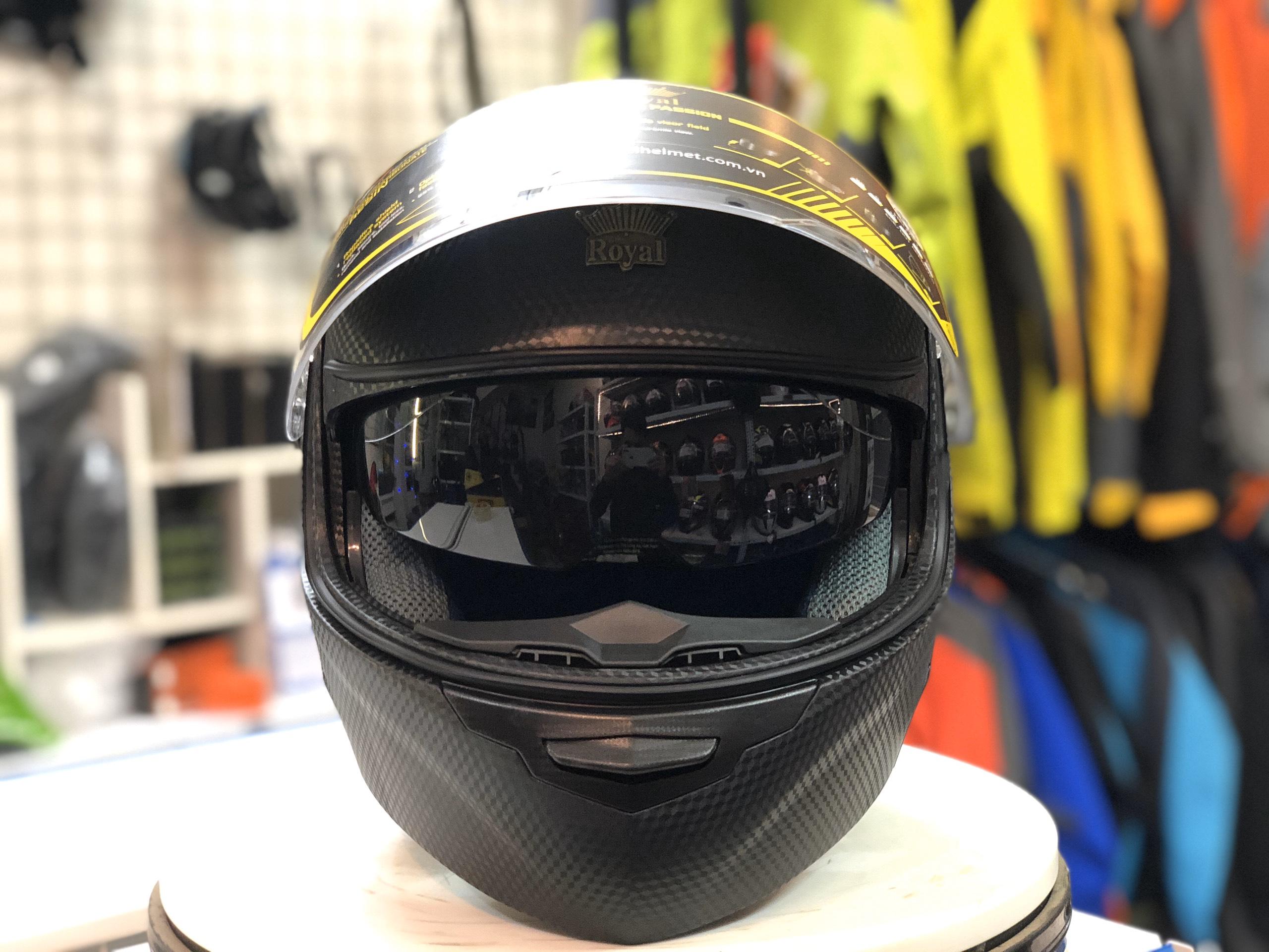 Mũ bảo hiểm Royal M179 đen (2)