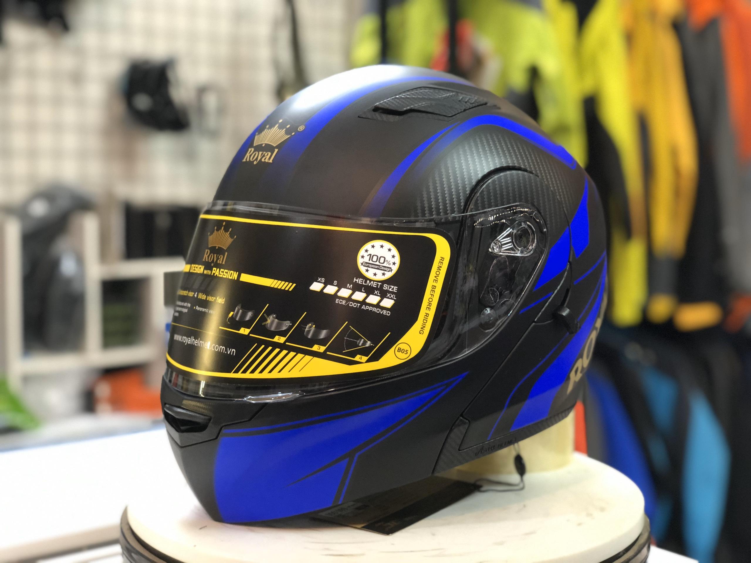 Mũ bảo hiểm Royal M179 xanh (3)