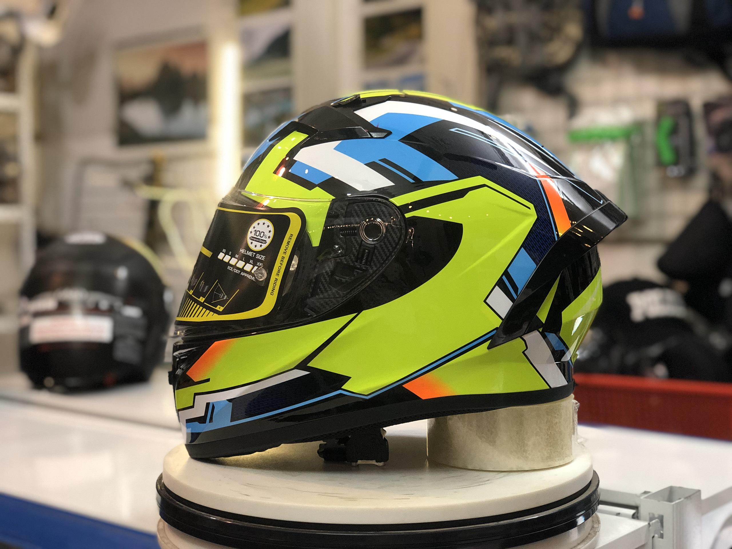 Mũ bảo hiểm Roc R01 Xanh lá (3)