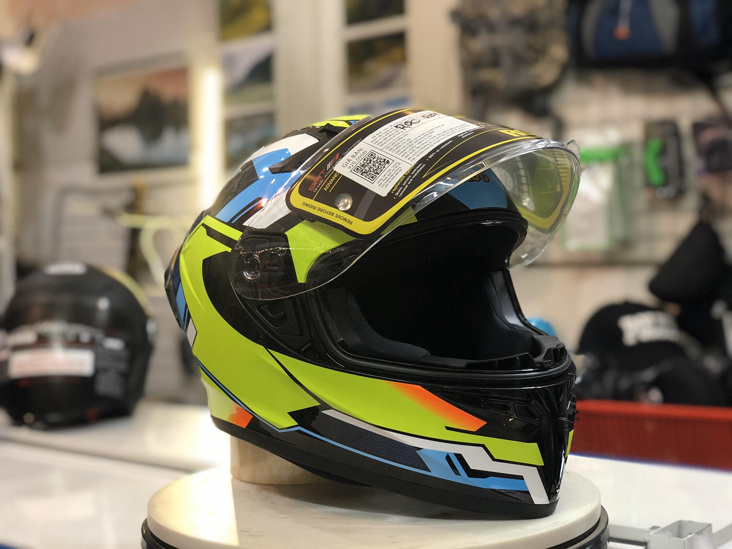 Mũ bảo hiểm Roc R01 Xanh lá (4)