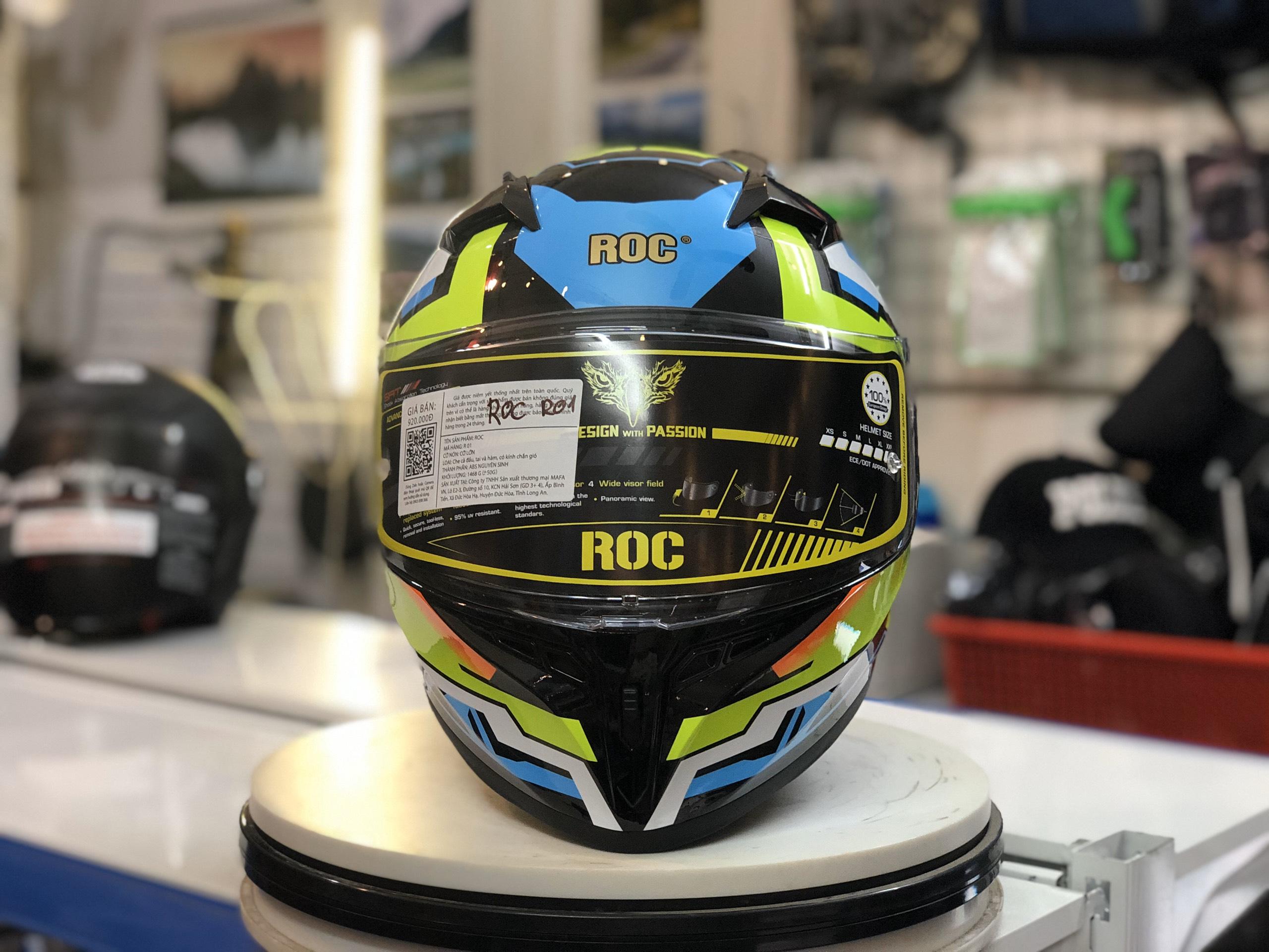 Mũ bảo hiểm Roc R01 Xanh lá (5)