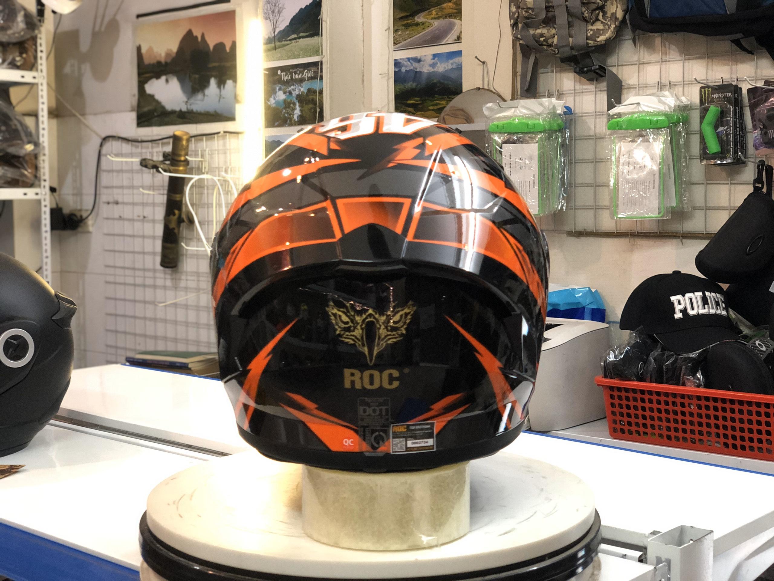 Mũ bảo hiểm Roc R01 cam đen (3)