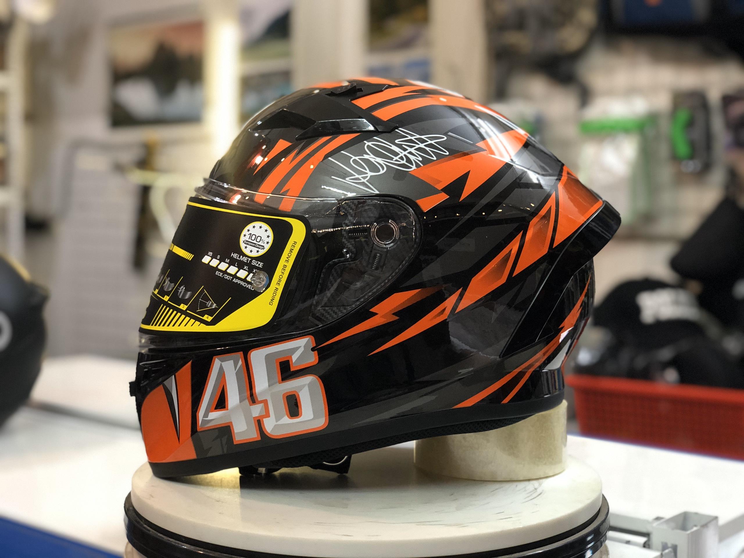 Mũ bảo hiểm Roc R01 cam đen (4)