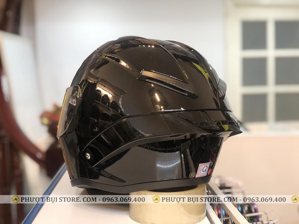 mũ bảo hiểm royal roc m137 đen bóng (6)