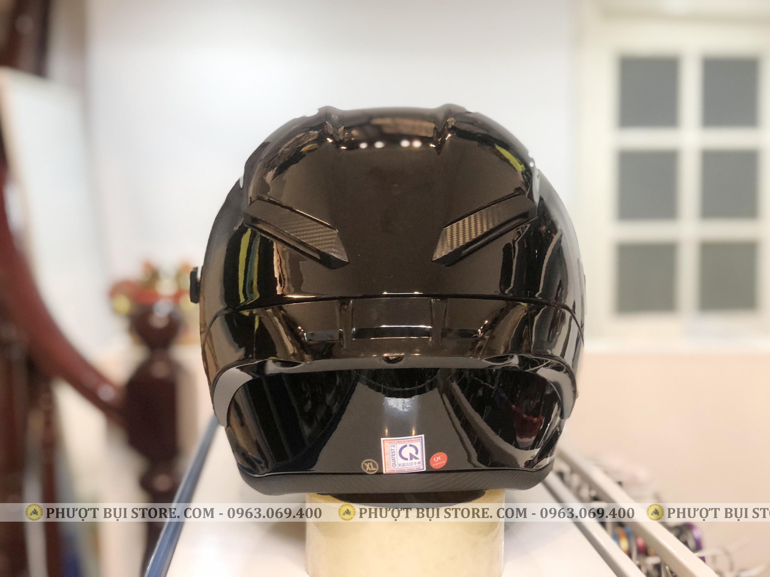 mũ bảo hiểm royal roc m137 đen bóng (7)