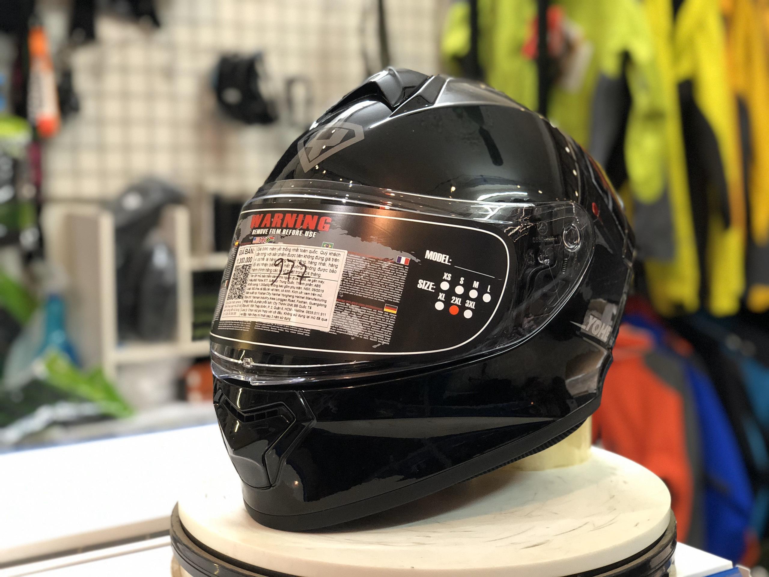 mũ bảo hiểm yohe 977 đen