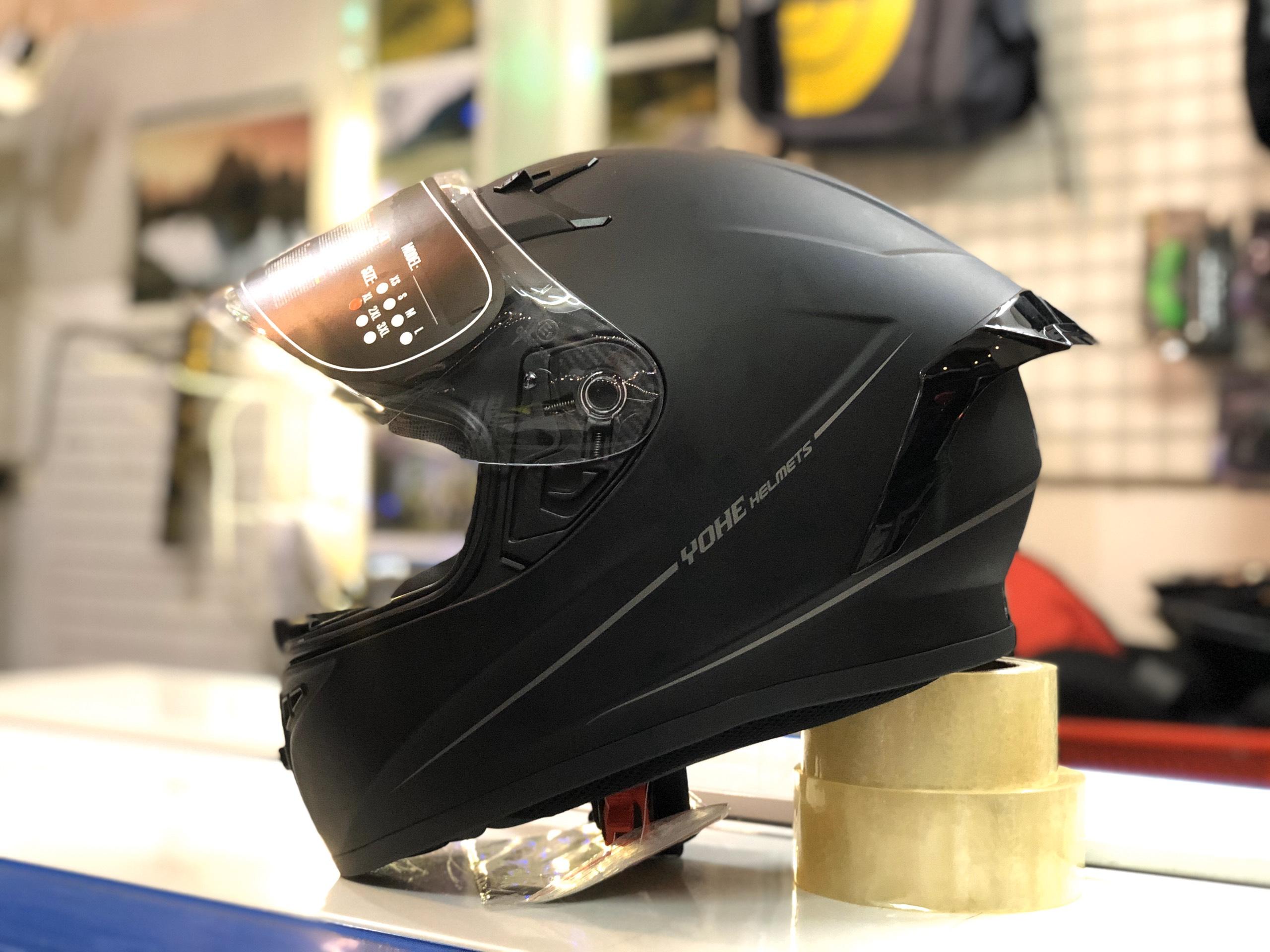 mũ bảo hiểm yohe 978 plus đen (2)