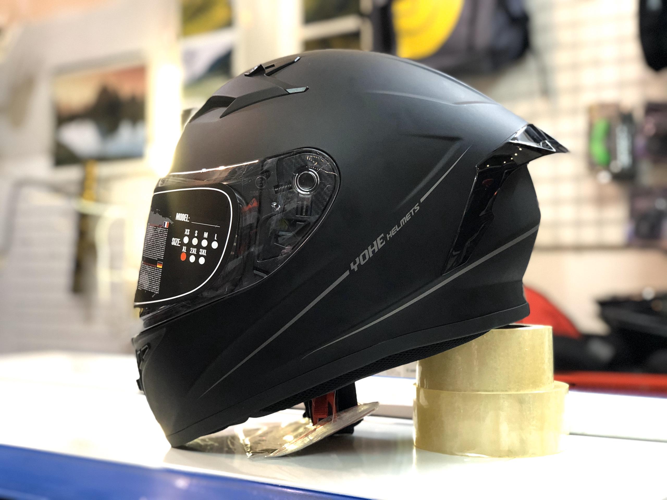 mũ bảo hiểm yohe 978 plus đen